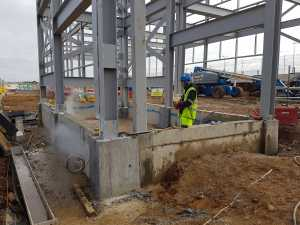 Structure erected at Luton airport