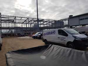 Drilltec van onsite at Luton airport